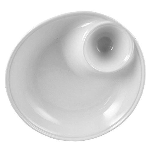 KooK Chip & Dip Ceramic Serving Dish Bowl White - 12 Inch