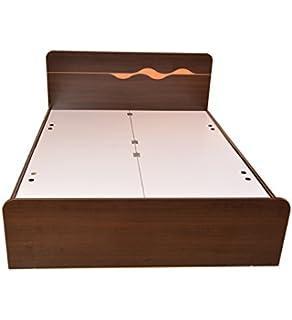 hometown swirl queen bed with box storage matt finish brown