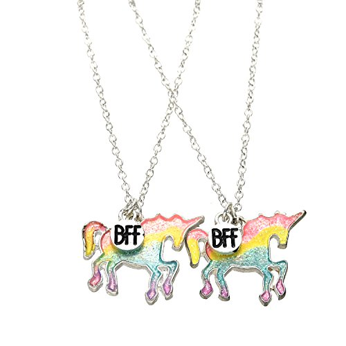 OAONNEA 2 PCS Best Friends Kids Necklace Set