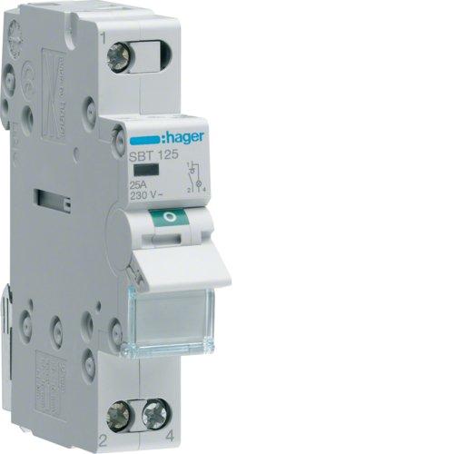 Hager SBT125 Modular Schalter –  1 Polo 25 A mit Kontrolllampe