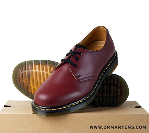 Dr. Martens - Scarpe basse stringate 1461Z Smooth Cherry, Unisex - adulto, Rosso (Cherry Red), 42