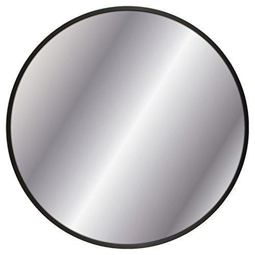 Decorative Wall Mirror Black Metal Frame 18'' - Threshold