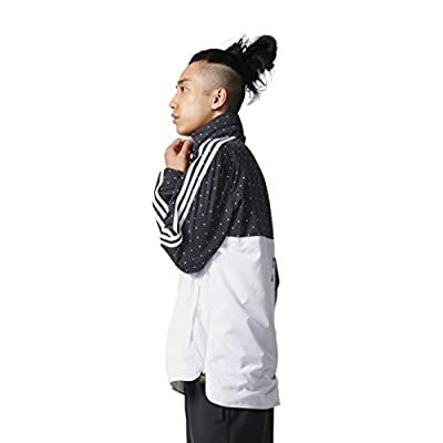 c55939fc47b84 Adidas Mens Pharrell Williams Jacket Woven Human Race Hooded Athletic Hoodie  Jacket Black White New