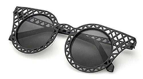 Lunettes oeil de de style cadre Noir soleil rétro Femmes vintage chat qwqOrXP