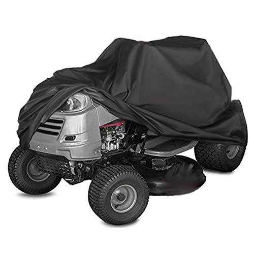 Kasla Waterproof Cover for Riding Lawn Mower and Ride-On Garden Tractor - Resistant Water UV Wind Dust Mildew, Heavy Duty 210D Oxford Outdoor Shelter (55 × 26 × 36 inch)