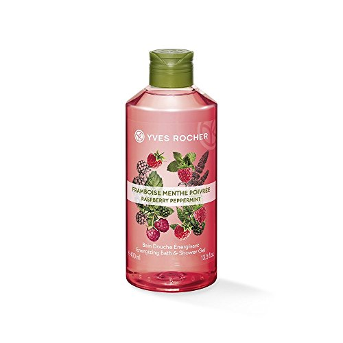 Yves Rocher Sensual Energizing Relaxing Bath Shower Gel Natural Organic 400 ml (Raspberry (Yves Rocher Natural)
