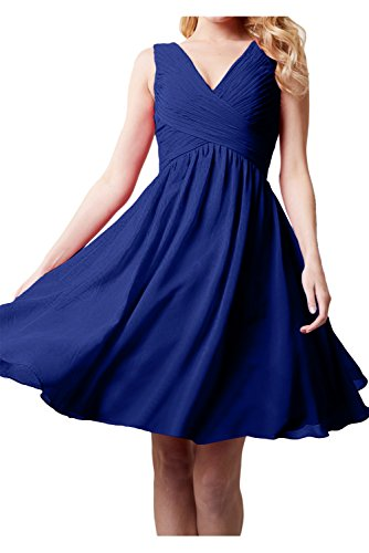mujer azul trapecio 50 Topkleider para real Vestido HZIxYt