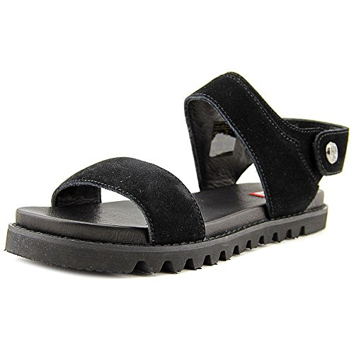 Hunter Womens Org Leather Sandal Leather Open Toe Casual Slingback Sandals Black kQ0gK82y5