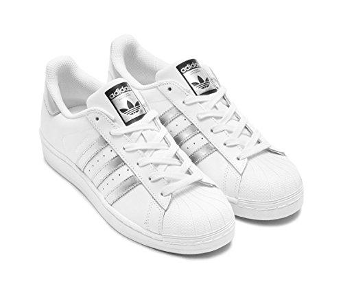 official photos a37c8 9832f Galleon - Adidas Originals Women s Superstar Fashion Sneaker, White Silver  Metallic Black,9.5 B(M) US