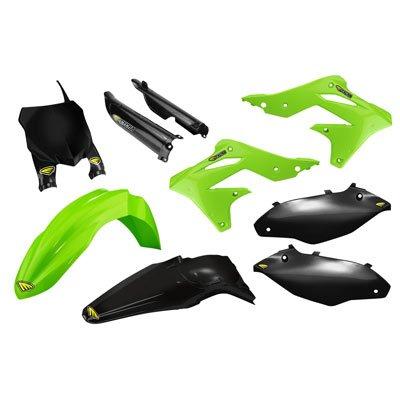 Kit Plastic Cycra (Cycra Powerflow Complete Body Kit OEM Green/Black for Kawasaki KX250F 2013-2016)