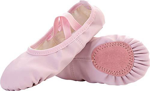 FEETCITY Girls' Womens Ballet Pump Slippers Flats Yoga Shoes Pink 10 ()