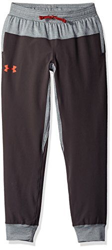Under Armour Boys Woven Warm Up Jogger, Charcoal (019)/Radio Red, Youth Large