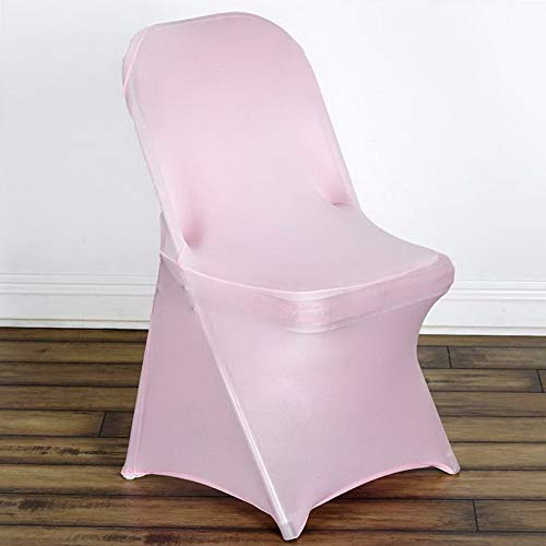 Mikash Spandex Chair Covers Folding Stretchable Fitted Wedding Party Decorations Sale | Model WDDNGDCRTN - 7038 | 50 pcs ()