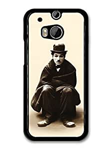 AMAF ? Accessories Charlie Chaplin Sitting Sepia Portrait case for HTC One M8 by runtopwell