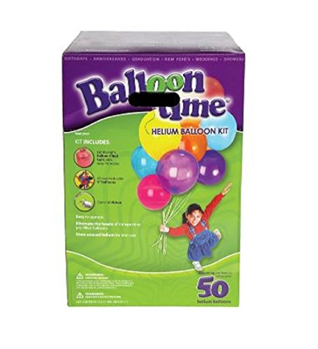 BALLOON TIME Disposable Helium Kit, 14.9 cu.ft. (Portable Helium Tank)