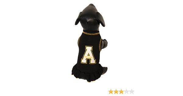 NCAA Appalachian State Mountaineers Cheerleader Dog Dress Team Color, Tiny