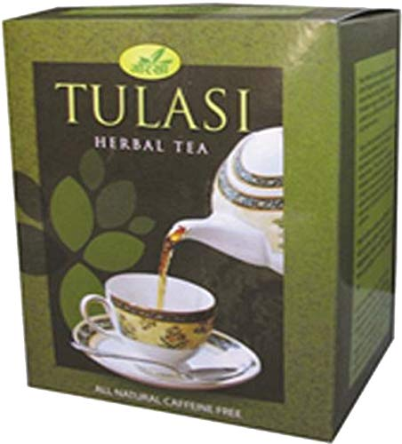 (Gorkha Tulsi Herbal Ayurvedic Tea Pure All Natural Organic Handpicked Fragrant Green Leaves & Powder of Tulasi & Natural High Quality Wild Crafted Herbs from The Himalayan Region of Nepal 100g)