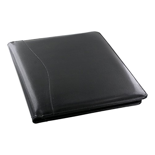 Royce Leather Shiny Leather Writing Portfolio, Writing Pad, Presentation Fold.