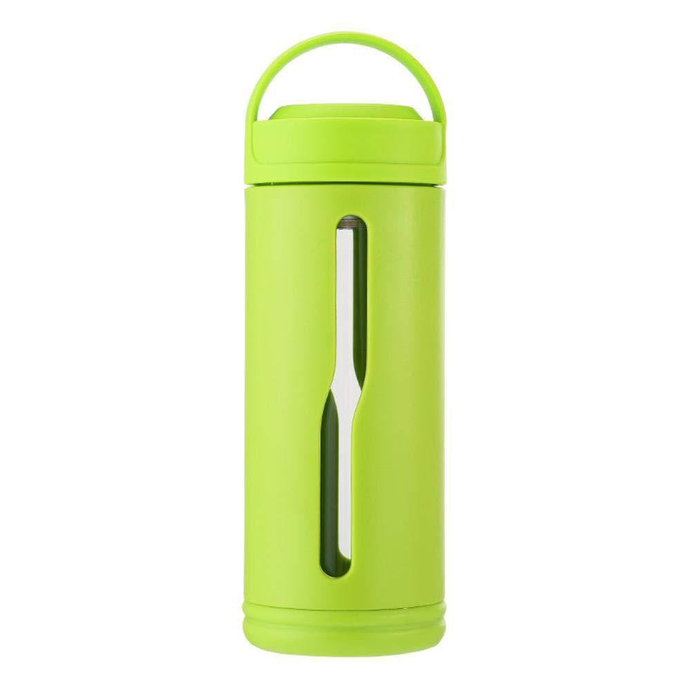 ChuangYing Cristal Elegante Hombres y Mujeres Portable-Botella de Agua Tazas de té contra caídas