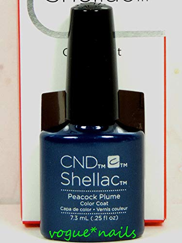 (CND Shellac GelColor Nail Polish/Base/Top/Brand New Gel Color #2 - Choose Any 90860- Peacock Plume)