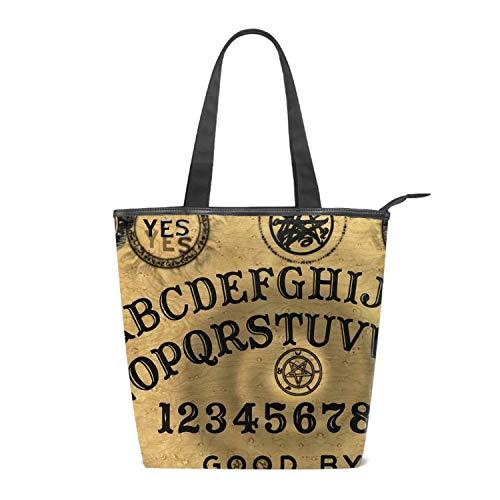 Canvas Tote Bag Ancient Ouija Board Handbag Shoulder
