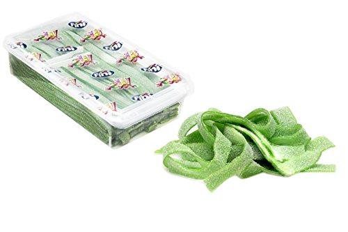 200 Piece Box (Watermelon Sour Belts 3.5 Pound Box - 200 Pieces)