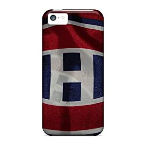 Iphone 5c RcQ13238NkCB Support Personal Customs Colorful Montreal Canadiens Pattern Shockproof Hard Cell-phone Case -KerryParsons