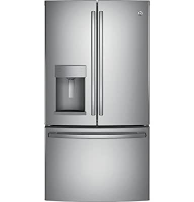 "GE GFE28GSKSS 36"" Freestanding French-door Refrigerator with 27.8 Cu. Ft. Capacity, in Stainless steel"