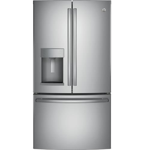 GE GFE28GSKSS 36' Freestanding French-door Refrigerator with 27.8 Cu. Ft. Capacity, in Stainless steel