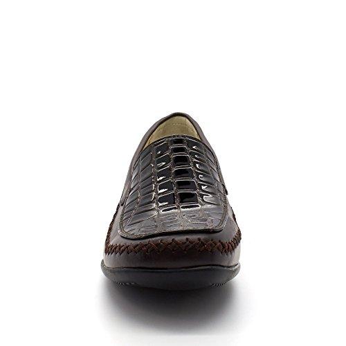 London Footwear - Sandalias con cuña mujer Marrón - marrón