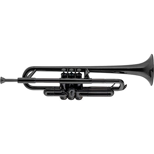 pBone PTRUMPET1BLK Jiggs pTrumpet Plastic Trumpet with Gig Bag & 3C & 5C Mouthpieces, Black