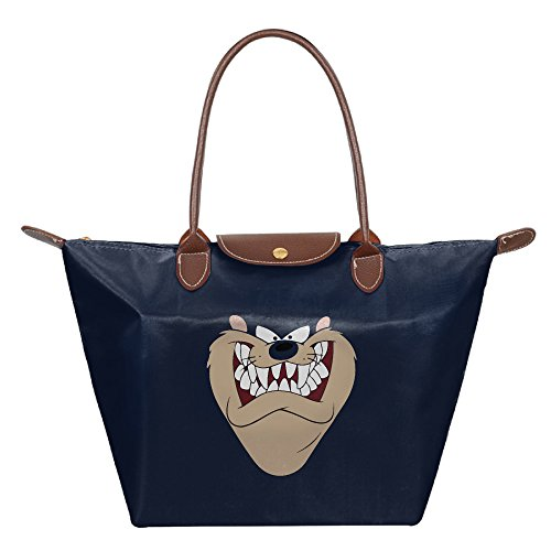Don't Mess With Taz! Foldable Tote Bags Purse Tote Shoulder Bag Shopping Beach Shoulder Handbags Navy