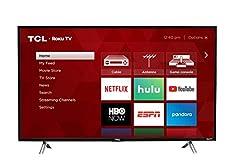 32-inch class HD Roku smart TV. Roku TV personalized home screen. Dual-band 802.11n Wi-Fi. 3 HDMI inputs, analog video input, USB port, digital and analog audio output. Digital television tuner. 720p resolution. 60Hz CMI. HDMI Ports: 3 (1 ARC...