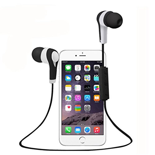 Price comparison product image Bluetooth Headphones,Sunfei In-Ear Stereo Wireless Headphones,Sweatproof 4.1 Magnetic Earbuds Stereo Earphones,Secure Fit for Sports,Noise Cancelling, Ergonomic Design with Built-in Mic (Black)