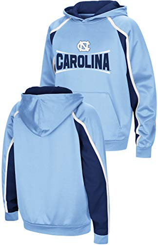Colosseunm NCAA Youth Hook & Lateral Synthetic Hoodie Sweatshirt (M=10/12, UNC Tar - North Fleece Youth Pullover Carolina