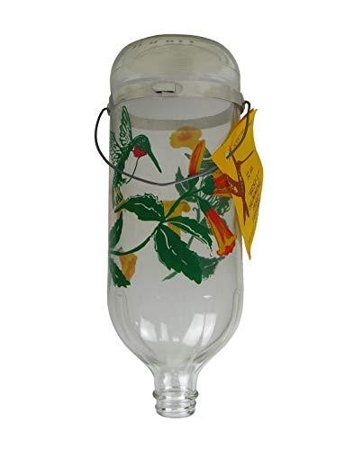 Original Best-1 Flowers Hummingbird Feeder 32 Ounce Glass Bottle, Plastic Base