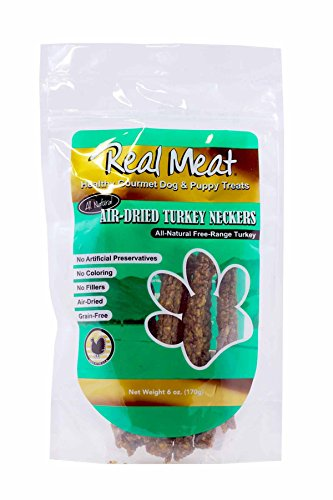 The Real Meat Company Free-Range Poultry Neckers, 6 Ounces, Turkey Dog Treats