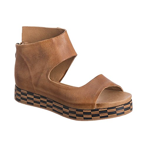 205 Leather - Antelope Women's 205 Taupe Leather Open Cut Wrap 40