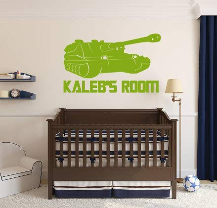 Armour Decals - Teisyouhu Art Mural Wall Sticker Army Army Tank Boys Nursery Soldier Military Combat Decal Armour Tank Quote Lettering Home Decoration
