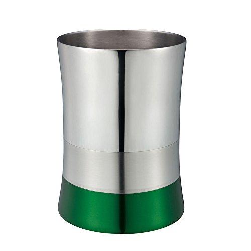 5L Stainless Steel Metal Trash Can/Bin (Green)