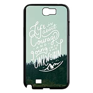Samsung Galaxy N2 7100 Cell Phone Case Black Courage SUX_964858