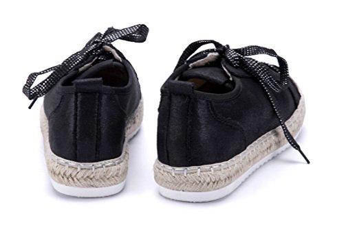 Schuhtempel24 Damen Schuhe Low Sneaker Flach Glitzer Schwarz