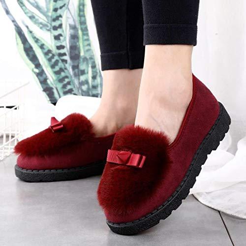 Inverno 40 Calde 40 Cotone Velluto Pantofole Casa Peluche Jia Piselli Hong Di Red Nuove Donne grey Delle Più Mese Scarpe 5wxBqTw61