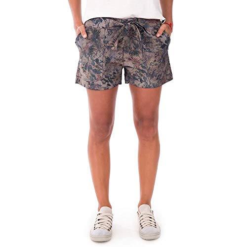 Shorts Floral - Kaki Escuro - Tam 38