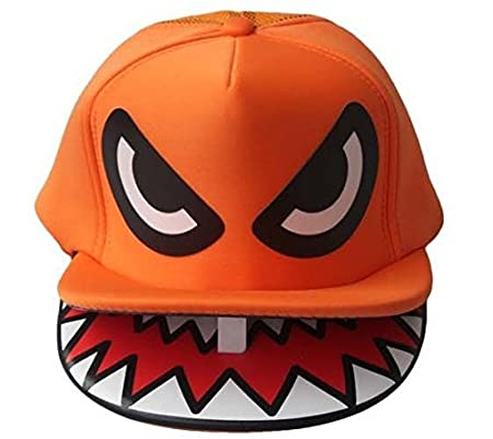 shark mouth shark double hat hiphop hip-hop hip-hop cap flat-brimmed hat truck cap Amio Hat