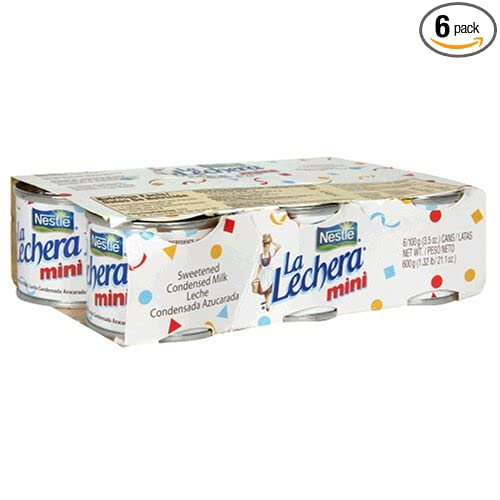 Amazon.com : La Lecherita, 6-Mini Can (Pack of 6 - Total of 36 Mini-Cans) : Sweetened Condensed Milk : Grocery & Gourmet Food