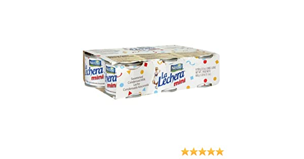 Nestle La Lechera Mini Cans, 6-Count Boxes (Pack of 6): Amazon.com: Grocery & Gourmet Food