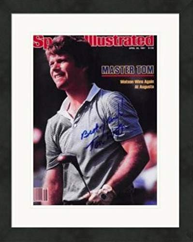 Tom Watson autographed magazine cover (Golf Hall of Famer) #SC9 Matted & Framed Autographed Golf Equipment