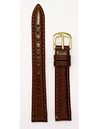 Ladies'Genuine Italian Leather Watchband, Color Tan, Size 14mm, Watchband