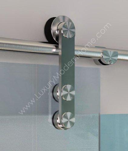 BERLIN - 2.5M - DOUBLE Sliding Glass Door Hardware (100'' opening - Max 2 - 50'' doors) by LuxuryModernHome.com (Image #2)